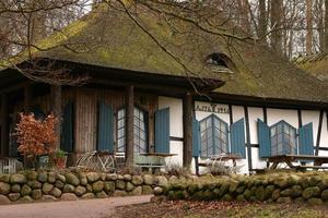 hus i skogen foto
