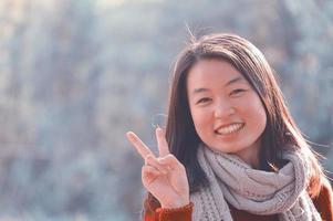 kinesisk kvinnastående foto