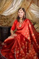 indiskt porträtt foto