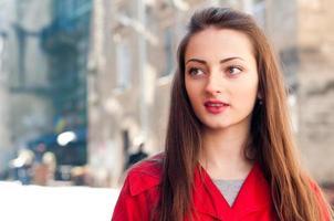 vacker tjej porträtt foto