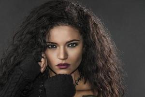 rocker girl porträtt foto
