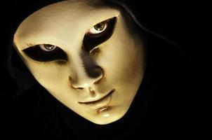 porträtt med mask foto