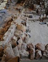 akrotiri-artefakter - porträtt foto