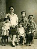 familj. vintage porträtt.