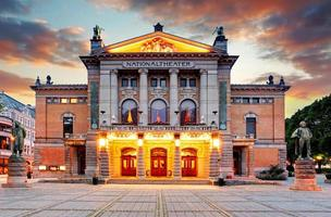 oslo nationell teater, norge foto