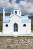 typisk grekisk kyrka foto