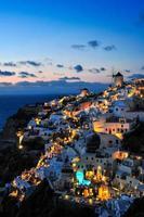 solnedgång vid oia, santorini foto