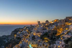 solnedgång i oia, santorini foto