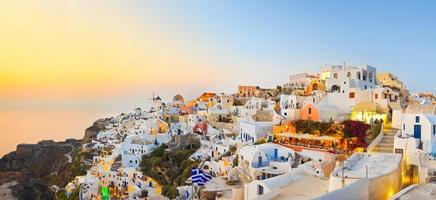 santorini solnedgång (oia) - Grekland foto