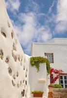 traditionell arkitektur av oia byn på santorini ö, gre foto