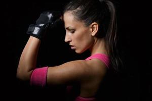 vacker fitness kvinna foto