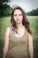 porträtt ung kvinna
