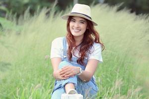 asiatisk kvinna foto