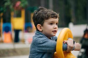 söt pojke porträtt foto