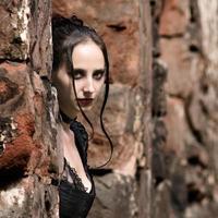porträtt i ruiner foto