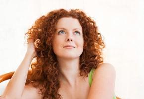 vacker kvinna porträtt foto