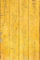 gammal trä målad bräde gul staket textur