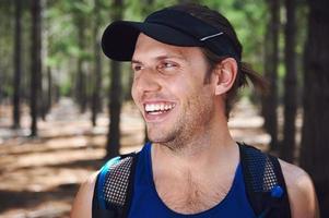 hälsosam trail löpare foto