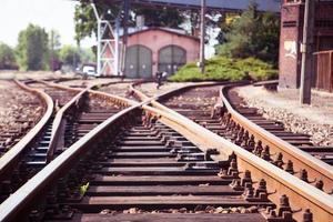 järnväg närbild. foto