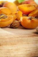 aprikos på nära håll foto