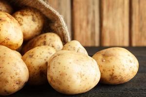 potatis närbild foto