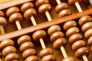 abacus på nära håll foto