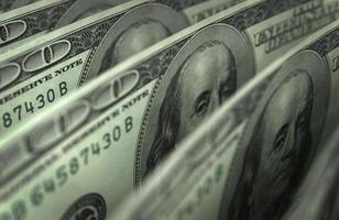dollar närbild foto