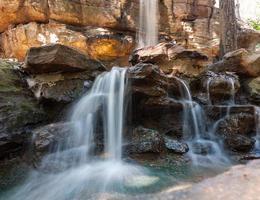 närbild vattenfall