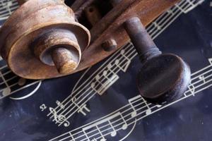 fiol och musikark foto