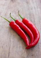 varm röd chili eller chilipeppar foto