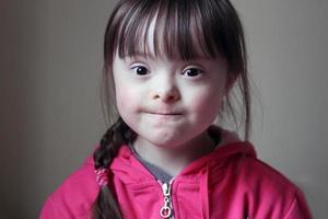 porträtt av flicka foto