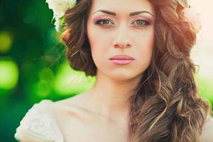 vacker brud porträtt foto