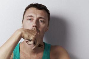 porträtt med cigarr foto