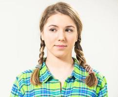 söt tonåring porträtt foto