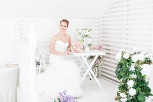 vackra brudporträtt foto