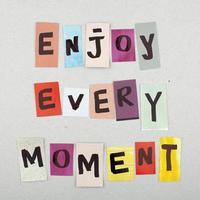 njuta av varje ögonblick foto