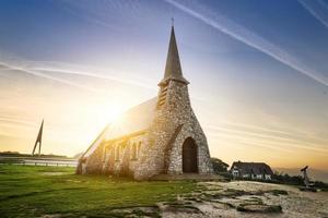 etretat kyrka Frankrike foto