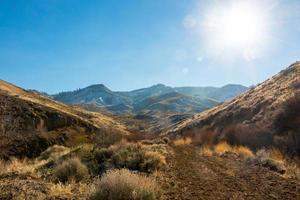 sunburst sierra nevada bergen, ökenlandskap foto