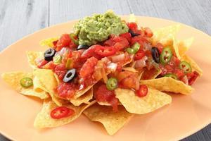 nachos med guacamole foto