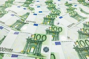 papper pengar euro. bakgrund av sedlar foto
