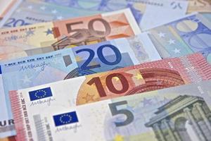 pengar - eurosedlar - Europeiska unionens valuta foto