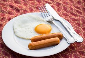 ägg och korv foto