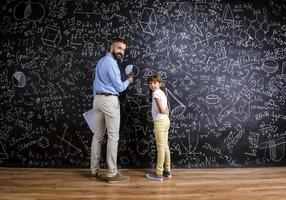 lärare och student foto
