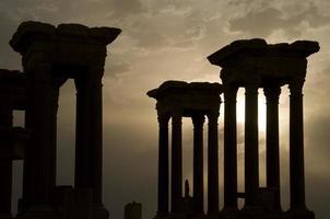 romerska ruiner, palmyra foto