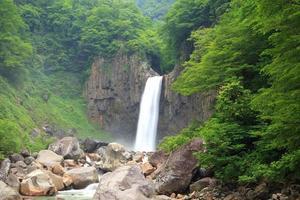 vattenfall på sommaren foto
