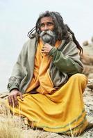 indisk munk sadhu foto
