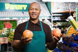 grönsakshandlare foto