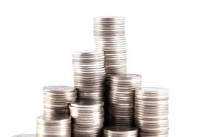mynt stack foto