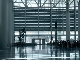 på flygplatsen foto