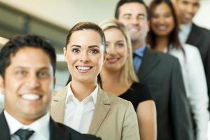 framgångsrika affärsmän i rad foto